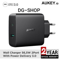 Aukey Resmi PA-Y10 56.6W Power Delivery 3.0 USB -C Charger For iDevice