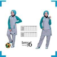 Pakaian Olahraga Wanita A8043 Baju olahraga muslimah bms06 toska abu