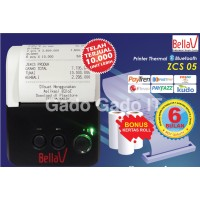 Printer Thermal Bluetooth BellaV ZCS 105 Mobile Mini Printer Portable