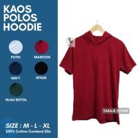 Kaos Polos Pendek Hoodie Original Bahan Soft Katun Kombet 30s