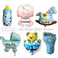 Balon Foil Baby Shower Boy 1 set Karakter Bayi Laki Laki