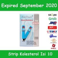 Easy Touch Strip Tes Kolesterol Isi 10 Stik Kolestrol Cholesterol
