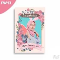 Custom Kado Wisuda Ulang Tahun Nikah Hiasan Pajangan dinding - FW12-15