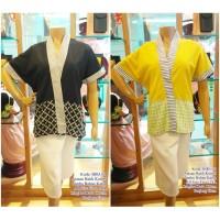 Jumbo Blus big size V neck Batik mix polos Katun Fit 2XL Murah! BIPANG