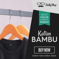 Kaos Polos Katun Bambu (Cotton Bamboo T-Shirt)