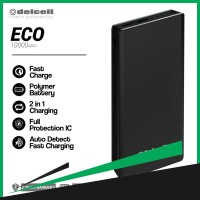 Delcell Power Bank Eco Polymer Battery Real Capacity - 10000 mAh