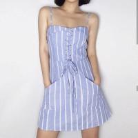 mini dress korean ocean baju pantai santai