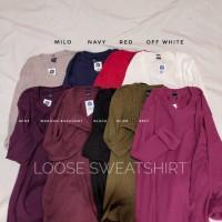 Loose sweatshirt / sweater murah / sweater pastel / sweatshirt murah