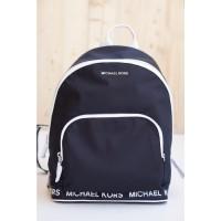 MK Connie Medium Backpack Black/Optic White