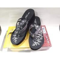 Sandal Jepit Cewe Wanita Ando PREMIUM AYUMI black