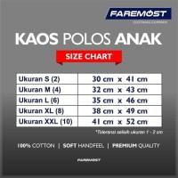 faremost-Kaos Polos Anak Pria Lengan Pendek Cotton Combed 30s