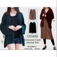A2.Oversized Cardi Warmly Knit Pull n Bear Style - Outer Rajut Loose
