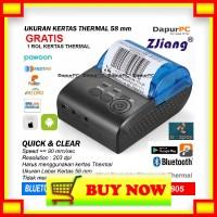 C9 Zjiang 5805 Portable Mini 58mm Bluetooth Thermal Printer Receipt PO