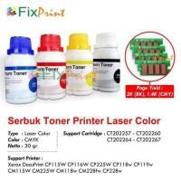 1SET CMYK Toner + Chip Fuji Xerox Cp115 CP116 CM118 CP119 CM228 CP225