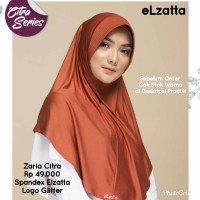 Bergo Jilbab Hijab Instan ZARIA CITRA ELZATTA Original