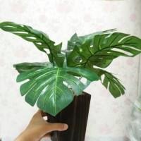 Pusat daun monstera deliciosa - daun monstera plsu- daun artificial