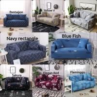 sarung cover sofa bed elastis / cover sofa bed polos elastis murah