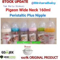 Botol Susu Pigeon Wide Neck Peristaltic Plus Nipple
