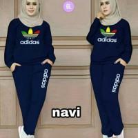 Dijual Setelan Baju Olahraga Wanita Adidas Muslimah Rainbow - Navy Tbk