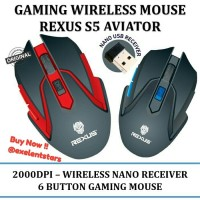 Mouse Gaming Wireless Rexus S5 AVIATOR RXM-S5
