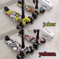 Kickboard Scooter Anak MOTIF - Skuter Anak / Otoped Anak Roda 3
