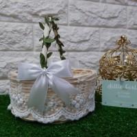 Keranjang Rotan Keranjang Bunga Pernikahan Wedding Rustic