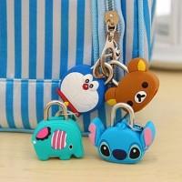 Gembok tas mini karakter kartun - gembok koper Luggage Padlock