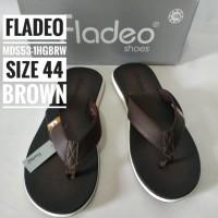 Sandal Jepit Pria Merk Fladeo Size 44 Warna Brown/Cokelat Mu SBJA12993