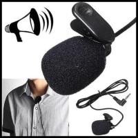 "Promo"" 3.5Mm Microphone With Clip On Mic Mik Mike Hp Pc Iphone"
