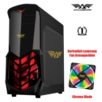 Casing PC Gaming Armaggeddon Vulcan V1X - Hitam