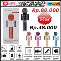 MIC WS858 WS-858 Portable Bluetooth Wireles Microphone Speaker Karaoke
