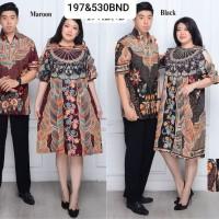 couple batik dress wanita kemeja pria batik jumbo 530 BND