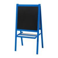 IKEA MALA Papan Tulis anak blackboard whiteboard 2 in 1 biru tua ikea