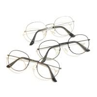 Rowling Impor murah Frame Kacamata Wanita dan Pria Gaya Retro Round Ey