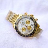 Jam Rolex tali pasir gold - chrono aktif.