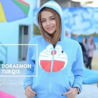 DORAEMON SKY BLUE Letter Harajuku Printed Pullover Loose Women Hoodies