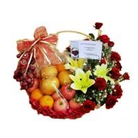 Parcel Buah Bunga Parsel Buah Segar Paket Parcel Buah Keranjang PB30