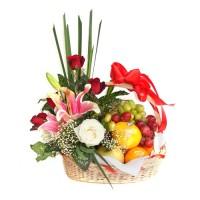 Parcel Buah Bunga Parsel Buah Segar Paket Parcel Buah Keranjang PB2