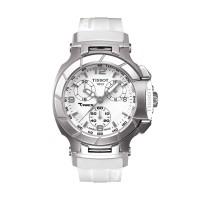 TISSOT T-Race Chronograph White Dial Ladies T048.217.17.017.00