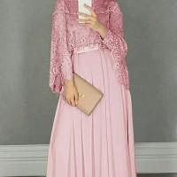 Maxi Dress / Baju Gamis Wanita Muslim Chikita Moscrepe + Cape Tile HQ
