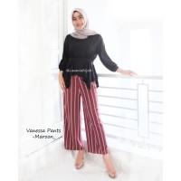 CLEARANCE SALES Vanessa stripe pants / kulot stripe by laamia hijab /