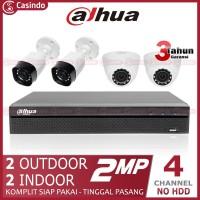 CCTV DAHUA 4 KAMERA 2MP (2 OUTDOOR 2 INDOOR)