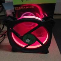 Nyk Fan Case 12Cm Aurora Silent Ring Led