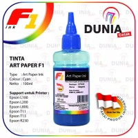 TINTA ART PAPER F1 INK FOR PRNTER EPSON - WARNA CYAN 100ML