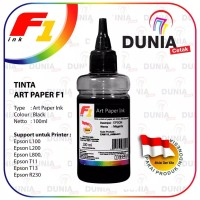 TINTA ART PAPER F1 INK FOR EPSON SERI L - WARNA BLACK 100ML