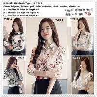 Baju Atasan Kemeja Putih Wanita Blouse Korea Import AB435441 Tunik
