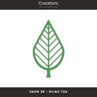 Daun Bunga | Paper Flower Backdrop Leaf Jasmine - 38