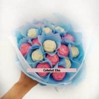 Buket Cokelat Bunga Mawar/Kado Unik Valentine/Anniversary