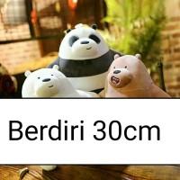boneka we bare bears miniso panda bear polar mainan grizzy import