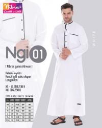Gamis Ikhwan Muslim Nibras NGI 01 Putih